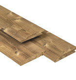 Tuindeco Overhangend Rabat Thermisch Gemodificeerd 18x141mm | Steamed 5* Class Wood