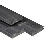 Tuindeco Vuren Blokhutprofiel Plank 28x121 Zwart Geïmpregneerd