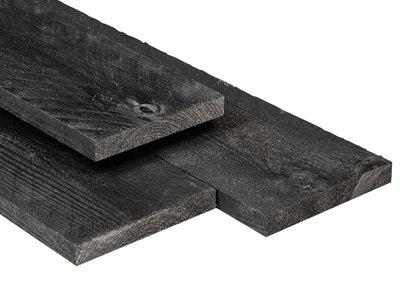 Douglas Plank 16x140mm Zwart Gedompeld Scherpkantig