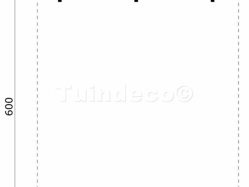 Tuindeco Dubbele Carport 600x500cm (6x5m)