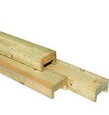 Tuindeco Afdeklat rechthoekig geïmpregneerd grenen (3-planks tussenruimte)