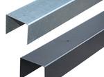 Tuindeco Afdeklijst U-profiel voor 3 Planks Tuinscherm Zwart Gepoedercoat