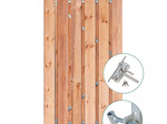 Tuindeco Tuindeur Privacy Red Class Wood met rvs slot