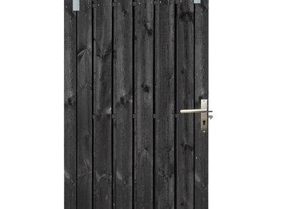 Tuindeur Schuifdeur 130x195cm Zwart Gespoten
