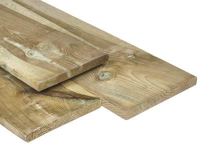 Geïmpregneerd Grenen Plank 20x200mm Geschaafd met Ronde Hoeken