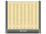 Berton Betonpaal hout beton schutting wit / grijs diamantkop 1 onderplaat