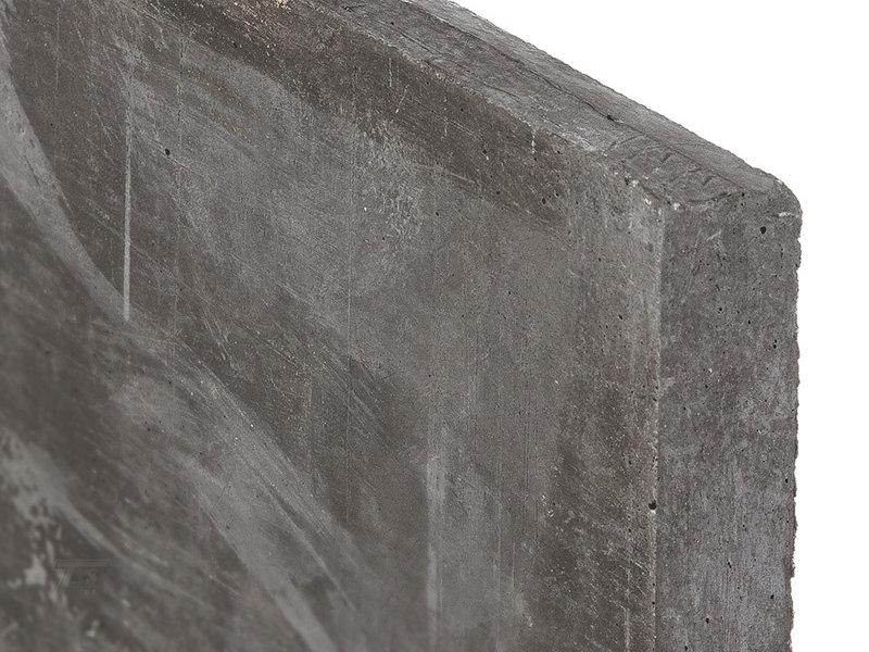 Berton Betonpaal hout beton schutting antraciet diamantkop extra hoog 1  of2 onderplaten