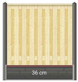Berton Betonpaal hout beton schutting wit / grijs diamantkop extra hoog 1  of2 onderplaten