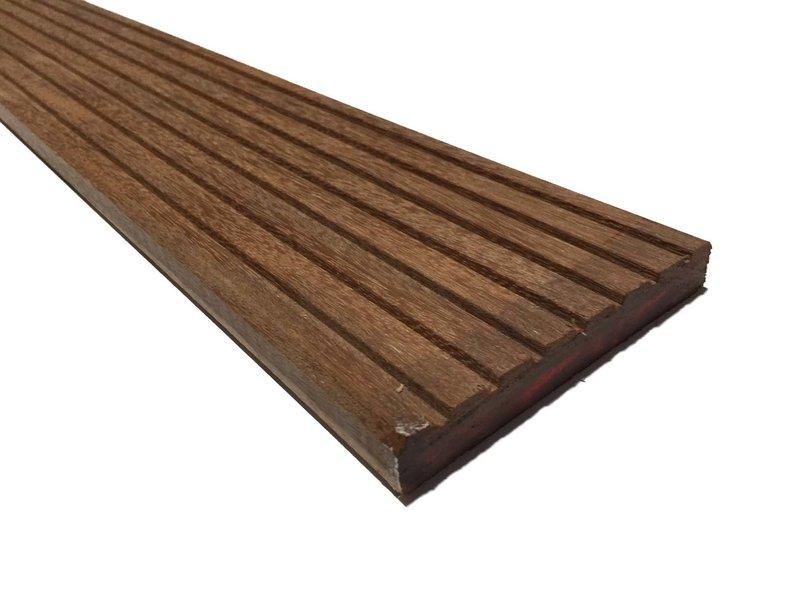 Hardhouten vlonderplanken 21x145mm (Massaranduba)