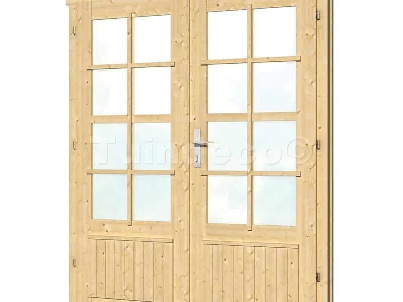 Tuindeco Dubbele deur DL7 voor Blokhutten