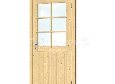 Vuren extra hoge en brede enkele deur