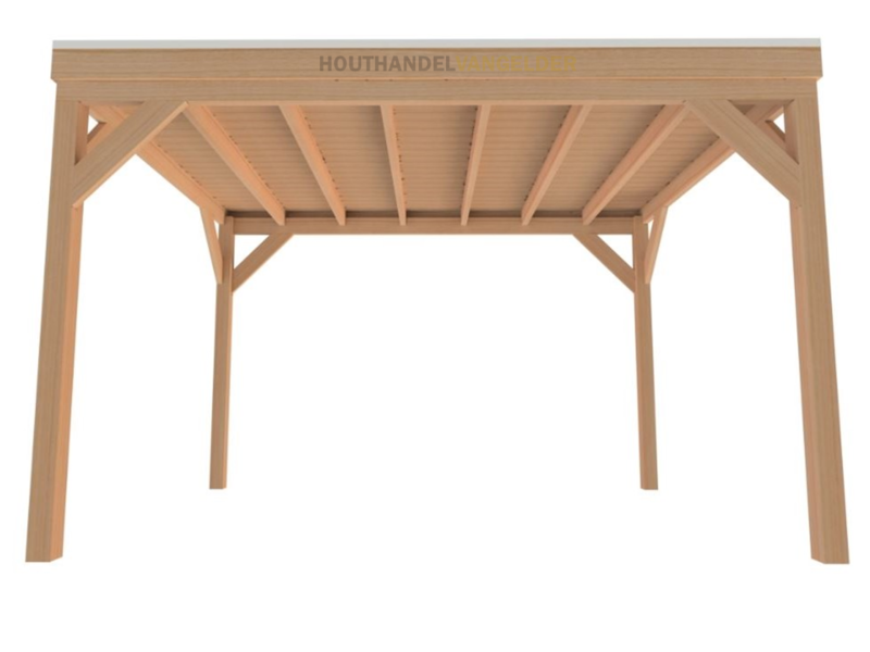 Van Gelder Hout Douglas Houten Overkapping Bouwpakket / Materiaalpakket 300x400cm (3x4 meter)