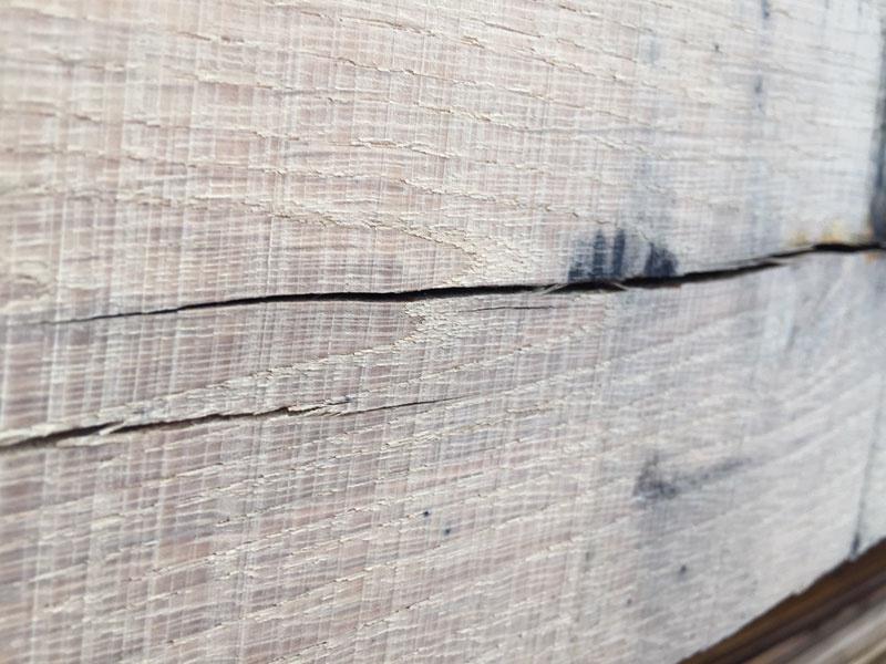 scheurvorming hout