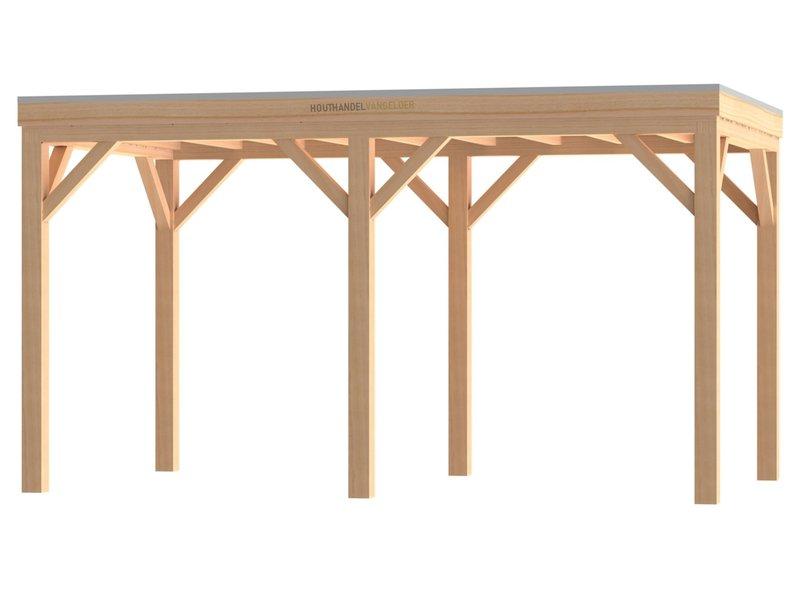 Van Gelder Hout Douglas Houten Overkapping Robuust Bouwpakket / Materiaalpakket 400x500cm (4x5 meter)