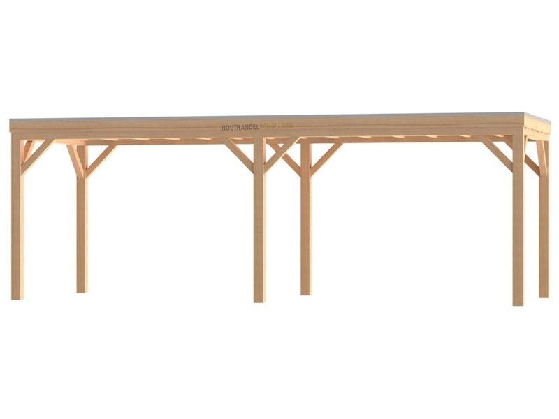 Van Gelder Hout Douglas Houten Overkapping Robuust Bouwpakket / Materiaalpakket 400x800cm (4x8 meter)