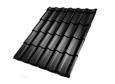 Dakpanplaat zwart 155 cm