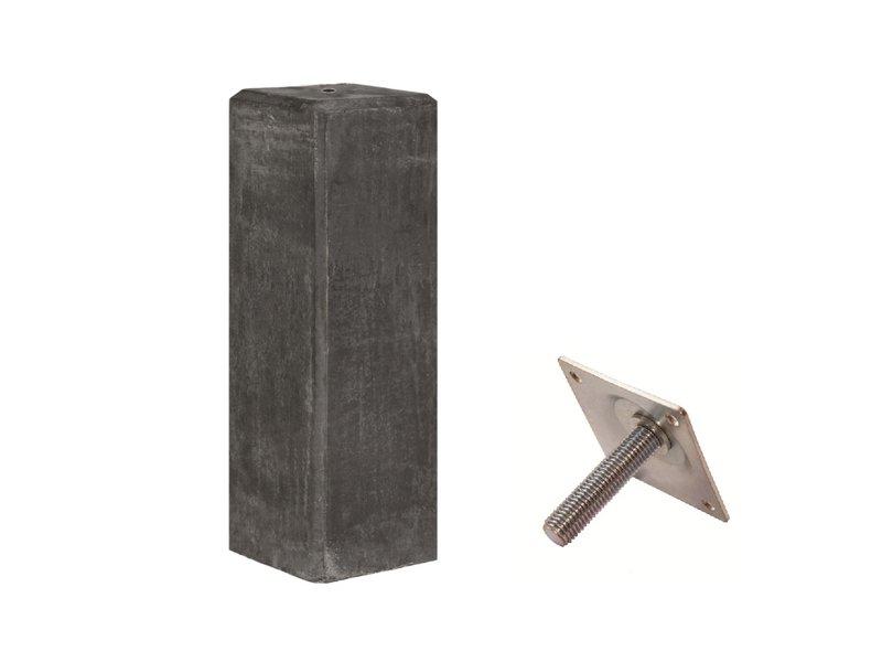 Tuindeco Betonpoer Robuust 22x22x40cm met stelplaat