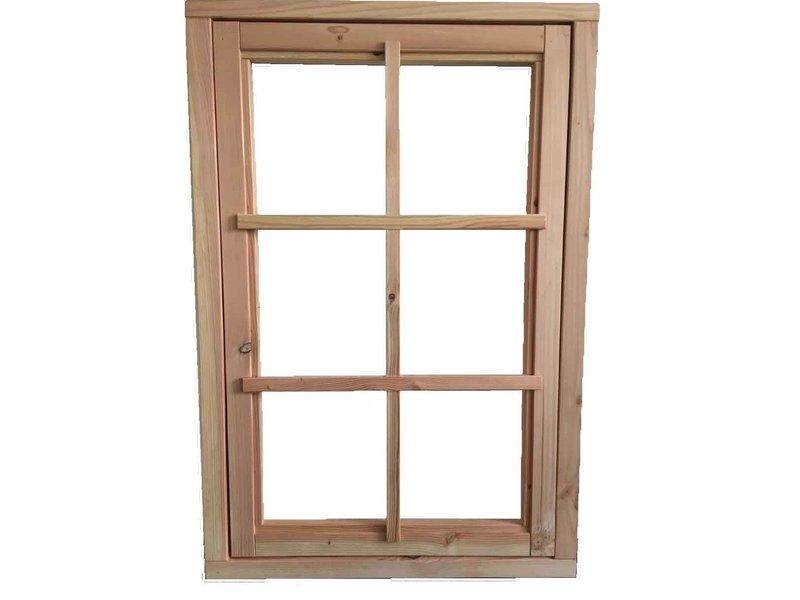 Van Gelder Hout Douglas raamkozijn met binnenraam en roedeverdeling 80x120cm