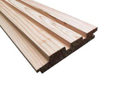 Douglas Deens rabat/ Rhombus Plank 25 x130mm werkend