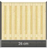 Tuindeco Betonpaal hout beton schutting antraciet diamantkop 1 onderplaat - IJSSEL