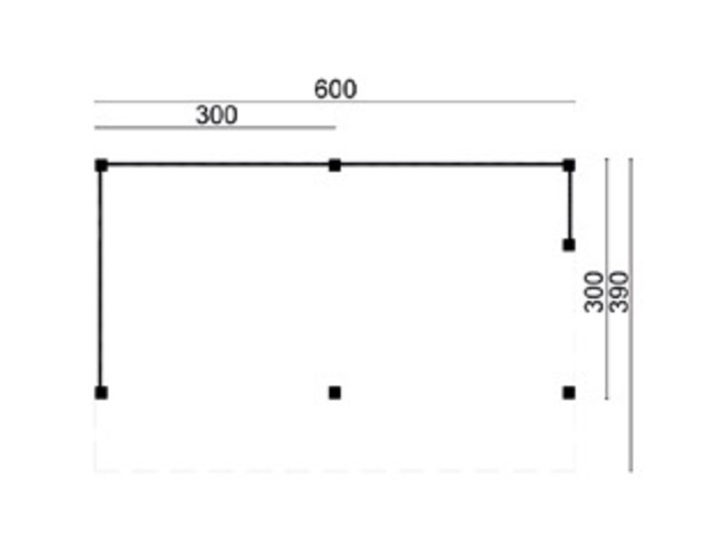 Tuindeco DH Z Kapschuur Goor B600xD390xH312cm