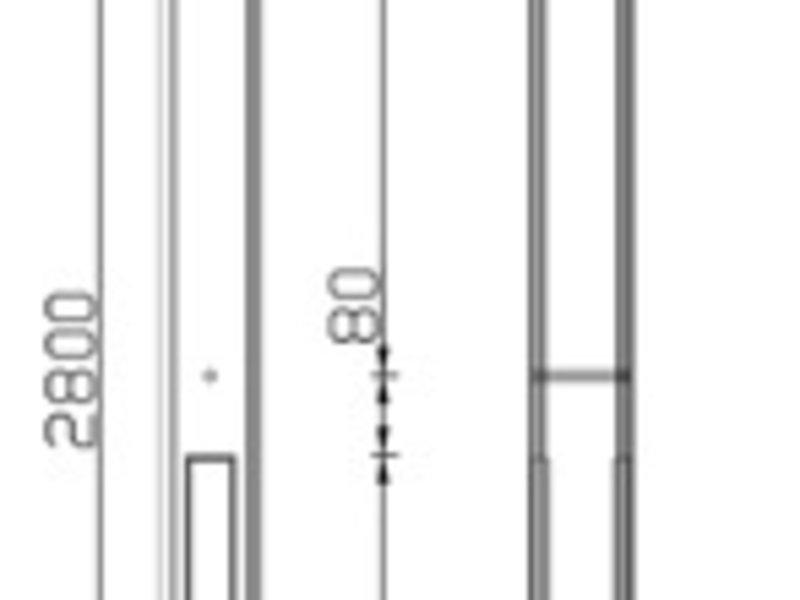 Tuindeco Betonpaal antraciet voor 2 gladde onderplaten of 2 rotsmotief platen