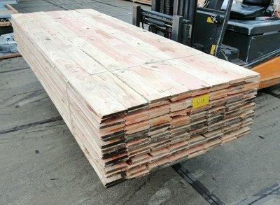 Restant partij Douglas vellingdelen per volle bundel a 77 stuks 18x130x3000 mm  - B950