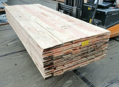 Restant partij Douglas vellingdelen per volle bundel a 84 stuks 18x130x5000 mm  - B946