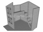 Tuindeco Speelhuisje Assepoester met verdiepingsvloer