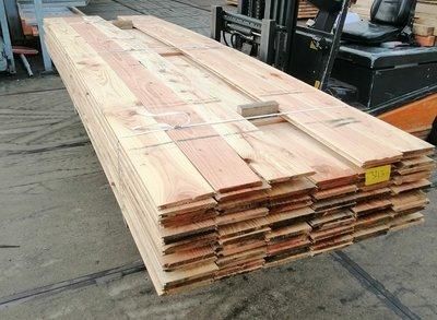 Restant partij Douglas vellingdelen per volle bundel a 50 stuks 18x195x3000 mm  - B412