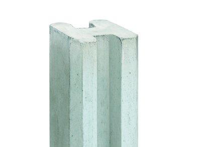 Sleufpaal met vellingkant wit/grijs 10x10x284cm t.b.v. 36cm motiefplaten - MERWEDE