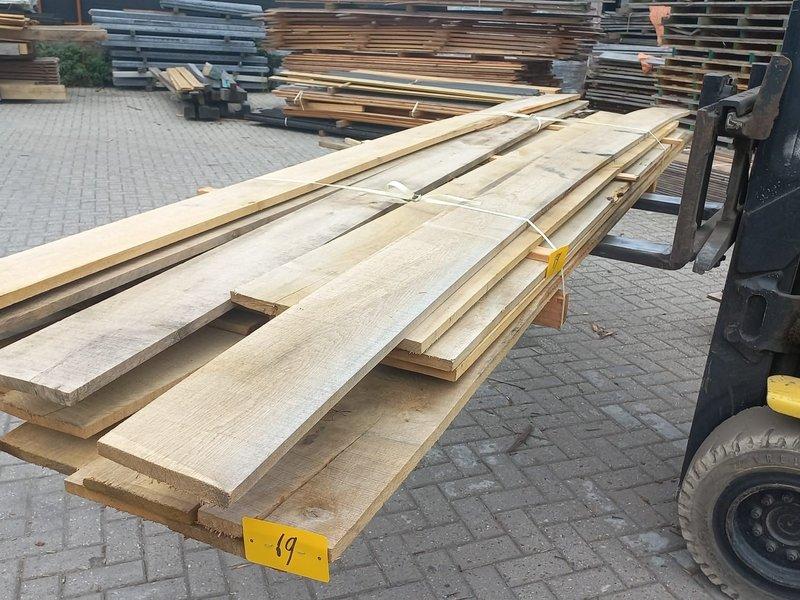 Van Gelder Hout Restant partij Eiken planken per volle bundel a 28 stuks 22x200x3000mm - B069