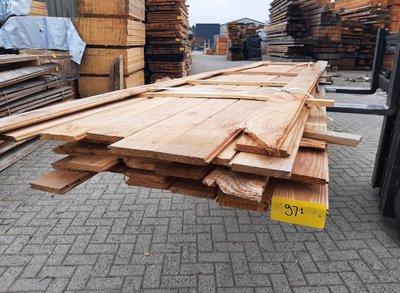 Restant partij Douglas vellingdelen per volle bundel a 33 stuks 18x130x4000 mm  - B971 -