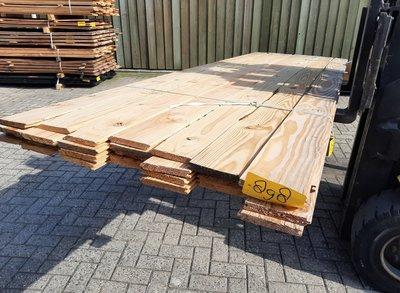 Restant partij Douglas vellingdelen per volle bundel a 28 stuks 18x130x3000 mm  - B898