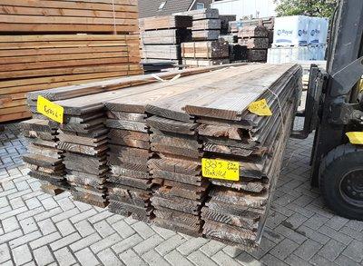 Restant partij Douglas blokhutprofiel per volle bundel a 75 stuks 28x180x4000 mm  - B885
