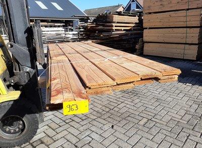 Restant partij Douglas Zweeds rabat per volle bundel a 30 stuks  25/11x195x3000mm Fijnbezaagd  - B963