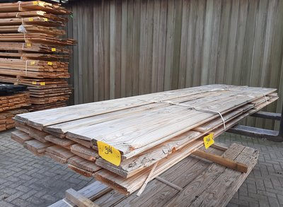 Restant partij Douglas Zweeds rabat per volle bundel a 30 stuks  25/11x195x3000mm Fijnbezaagd  - B966