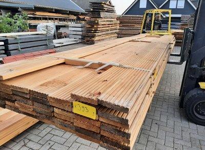Restant partij Douglas Vlonderplanken per volle bundel a 46 stuks  28x140x3000 mm Met Profiel - B393