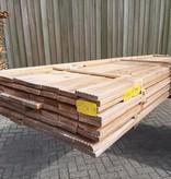 Restant partij Douglas Vlonderplanken per volle bundel a 58 stuks  28x140x4000 mm Met Profiel - B394