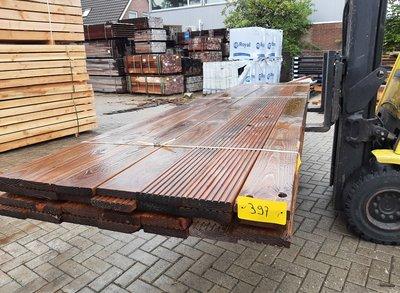 Restant partij Douglas Vlonderplanken per volle bundel a 28 stuks  28x140x4000 mm Met Profiel - B397