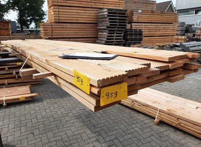 Restant partij Douglas Vlonderplanken per volle bundel a 20 stuks  28x140x4000 mm Met Profiel - B959
