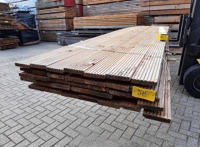 Restant partij Douglas Vlonderplanken per volle bundel a 35 stuks  28x140x5000 mm Met Profiel - B975