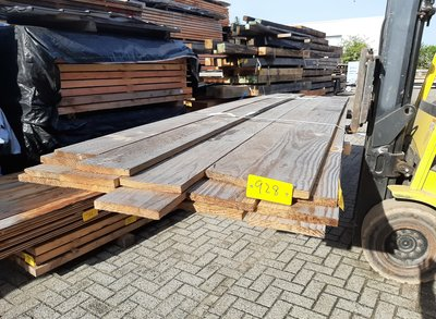 Restant partij Douglas planken per volle bundel a 18 planken 22x200x4000 mm - B928