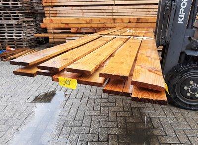 Restant partij Douglas Vlonderplanken per volle bundel a 11 stuks  28x175x4000 mm glad geschaafd - B386