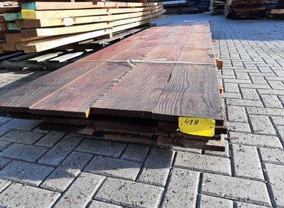Restant partij Douglas planken per volle bundel a 15 planken 25x250x4000 mm - B428
