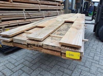 Restant partij Douglas planken per volle bundel a 12 planken 22x200x4000 mm - B868