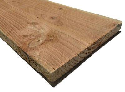 Douglas plank 25x250mm Fijnbezaagd