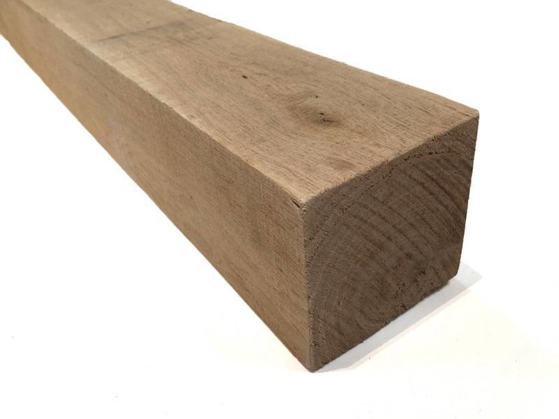 Eiken balk 100 x 100 mm 10x10 cm fijnbezaagd houthandel van gelder