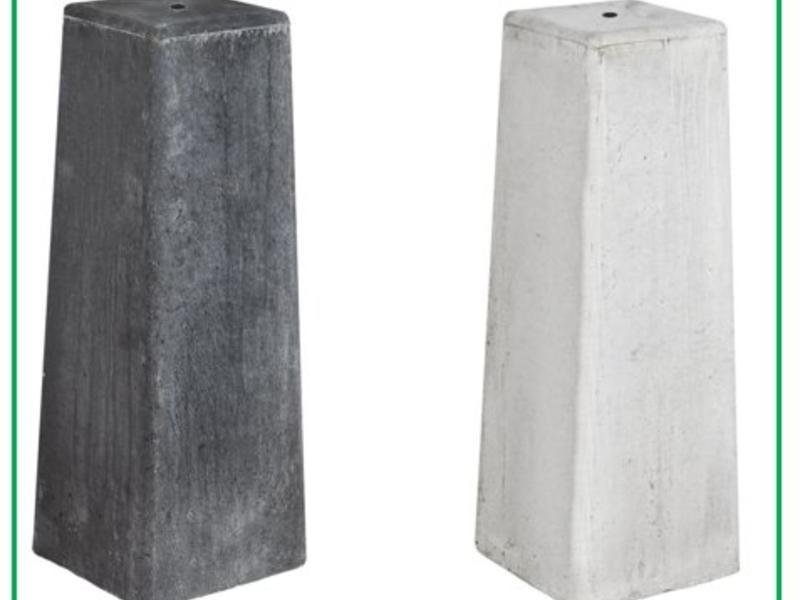Tuindeco Betonpoer Lichtgrijs (15x15) + Stelplaat