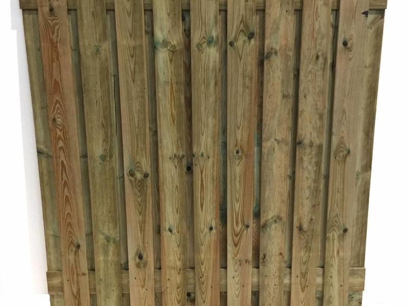 Van Gelder Hout Schutting 19 planks groen geimpregneerd